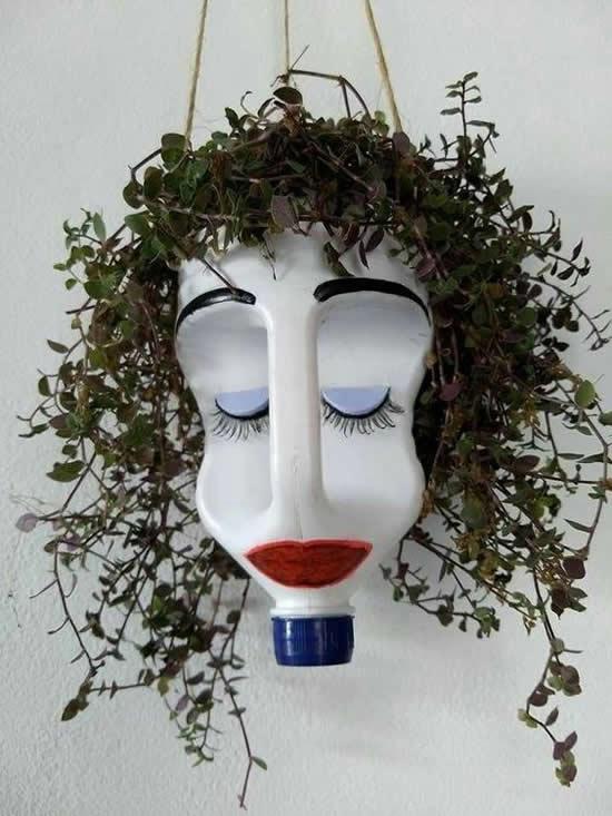 Vasos Estilizados com Garrafas de Amaciante