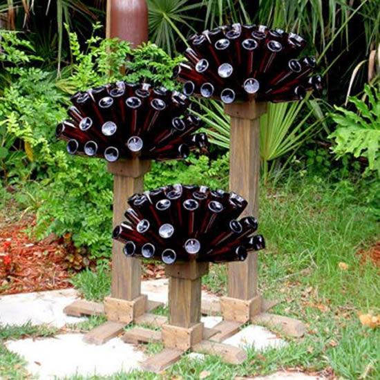 Decoração para Jardim com Garrafas