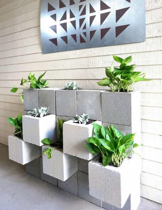 Decoração para Jardim com Blocos de Concreto