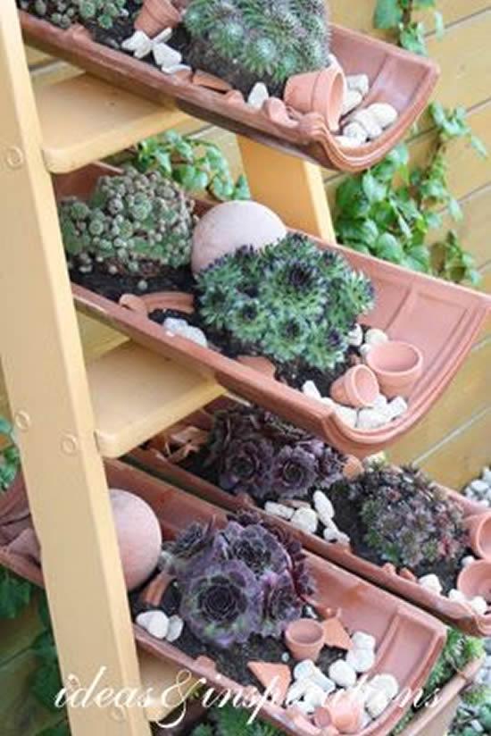 Decoração de Jardim com Telha