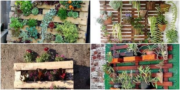 Ideias com Pallets para Decorar o Jardim