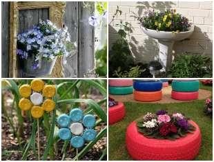Decoração com Reciclagem para Jardim