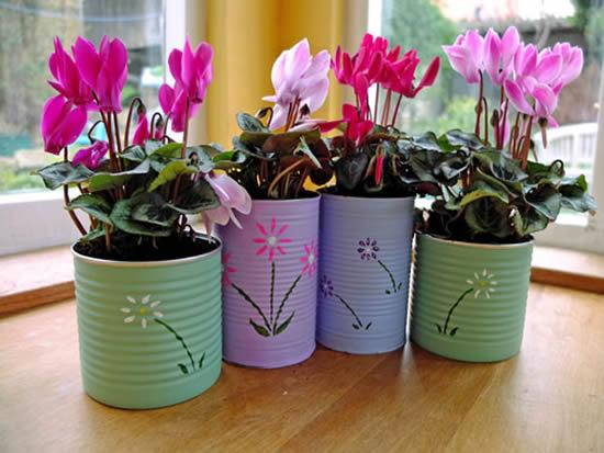 Ideias para fazer Vasos Sustentáveis