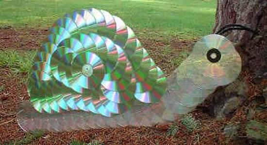 Decoração com CDs Velhos para Jardim