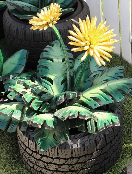 Decoração e Jardinagem com Pneus