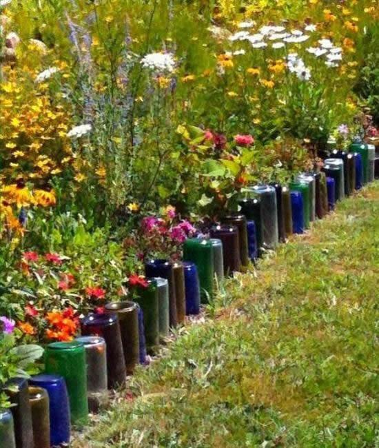 Inspiração com Reciclagem para Jardim
