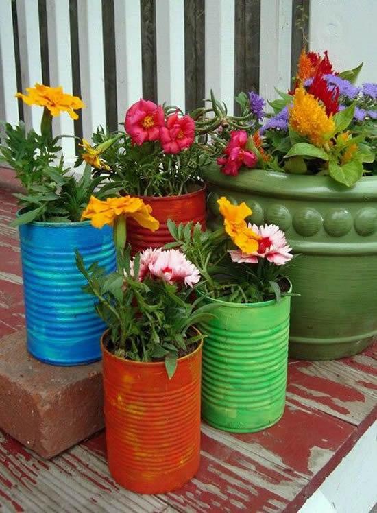 Ideias com Reciclagem para Jardim