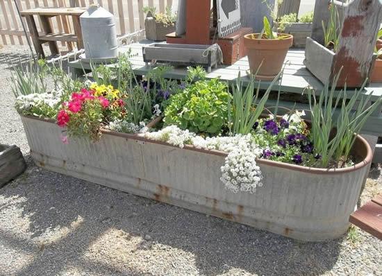 Ideias de Jardinagem com Recipientes
