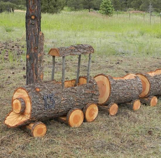 Como reaproveitar madeira para decorar jardim