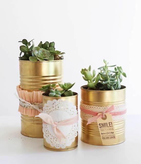 Vasos Inusitados com Reciclagem