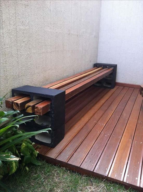 Móveis com Blocos de Concreto para Jardim