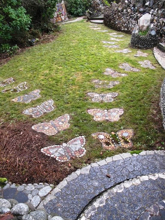 Caminhos com Pedras para Jardim