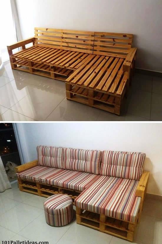 Sofá de Pallets Lindo e Fácil de Fazer