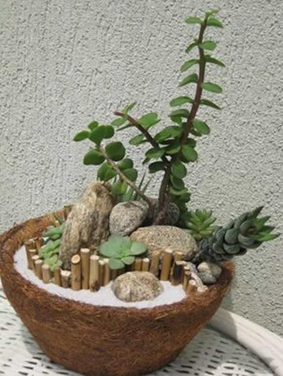 Decoração de Jardim como Minis