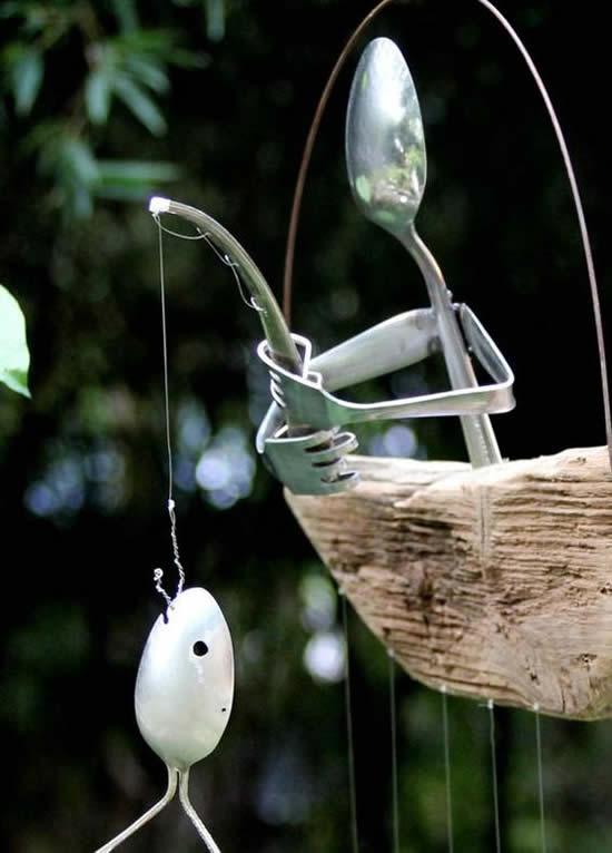 Ideia para Jardim com Talheres Velhos