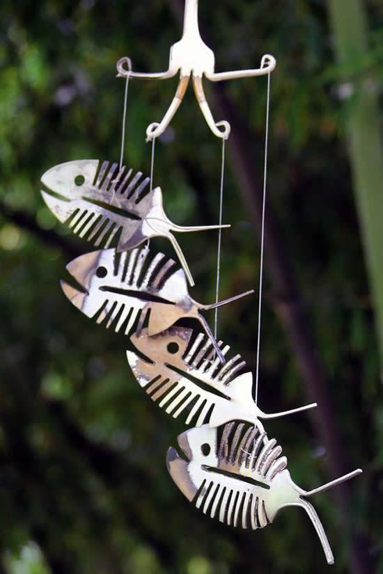 Peixinhos com Colheres Velhas