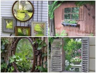 Decoração com Espelhos para o Jardim