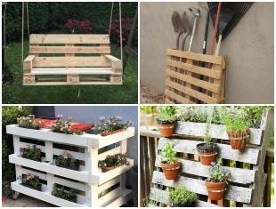 Ideias Incríveis com Pallets para o Jardim