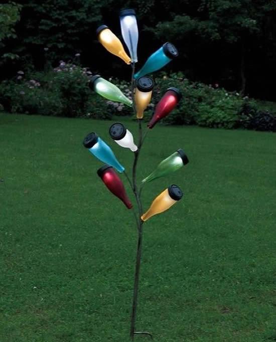 Ideias com Garrafas para o Jardim