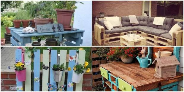 Móveis com Pallets para Decorar Jardim
