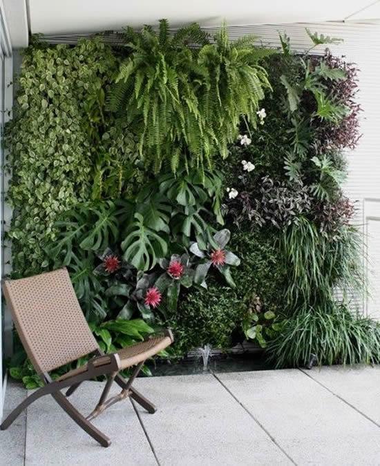 Decoração com Parede Viva para Jardim