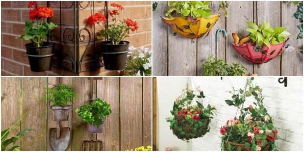 Suportes de Vasos para Jardim