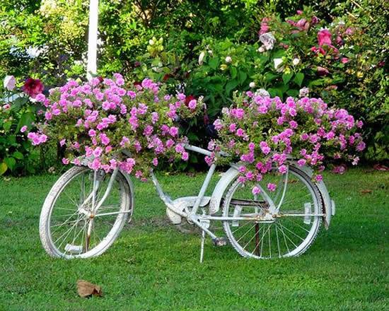 Decoração Criativa com Bicicletas Velhas