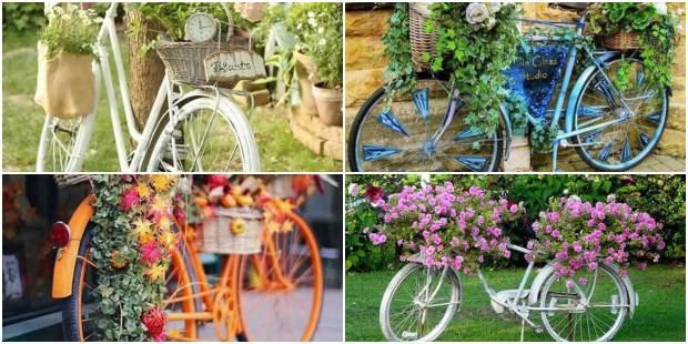 Linda Decoração com Bicicletas Velhas