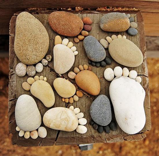 Decoração criativa com pedras