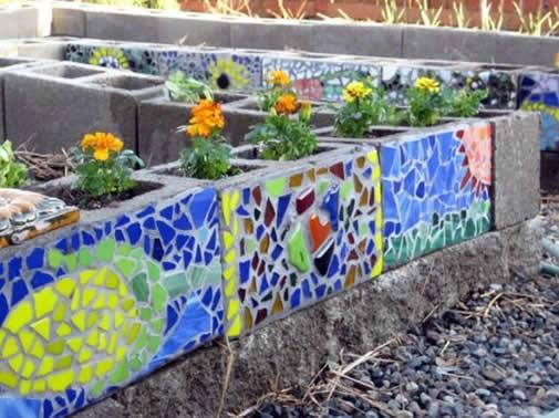 Ideias com Blocos de Concreto para o Jardim