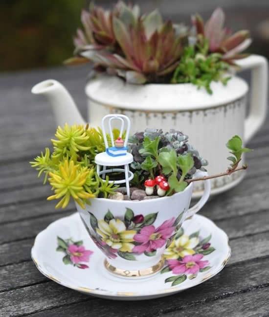 Só dica linda para plantar mini suculentas