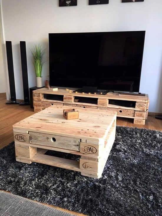 Decoração e móveis com pallets