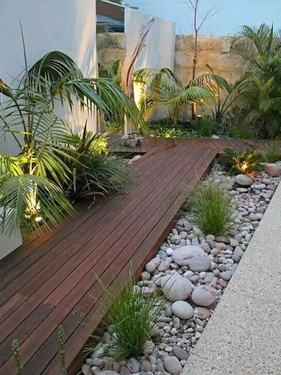 Decoração com pedras para jardim