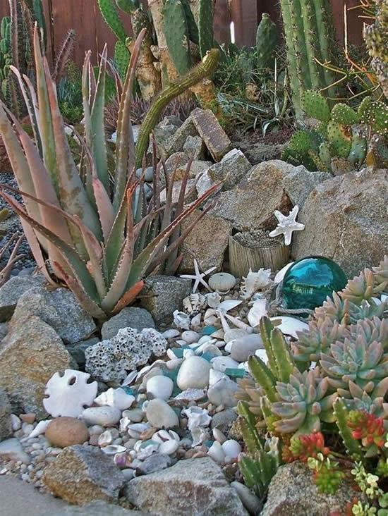 Decoração para jardim através de pedras