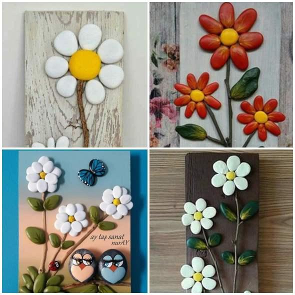 10 flores lindas para fazer arte com seixos