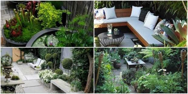 Inspirações para jardins pequenos