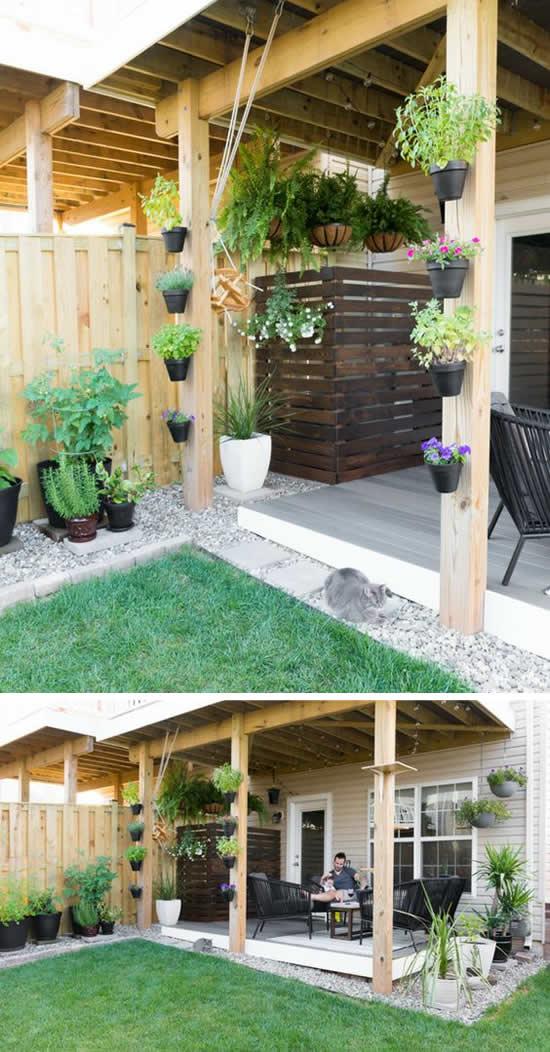 Decoração com pedras para jardim pequeno