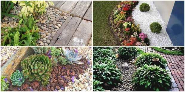 Como decorar jardim pequeno com pedras