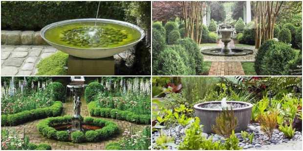 Jardins Decorados com Fontes