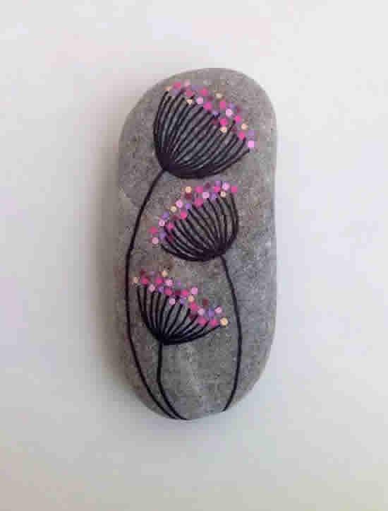 Pedras Decoradas para Jardim