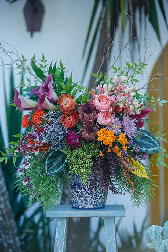 Arranjos florais para decoração