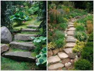 Escadas com pedras para jardim