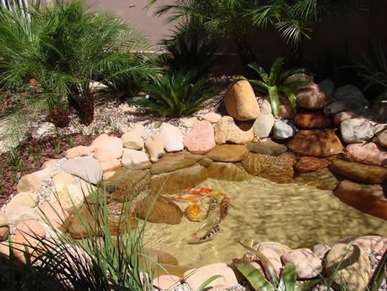 Lindos lagos em jardins