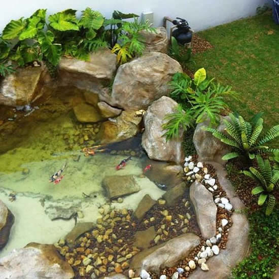 Decoração para lagos de jardim