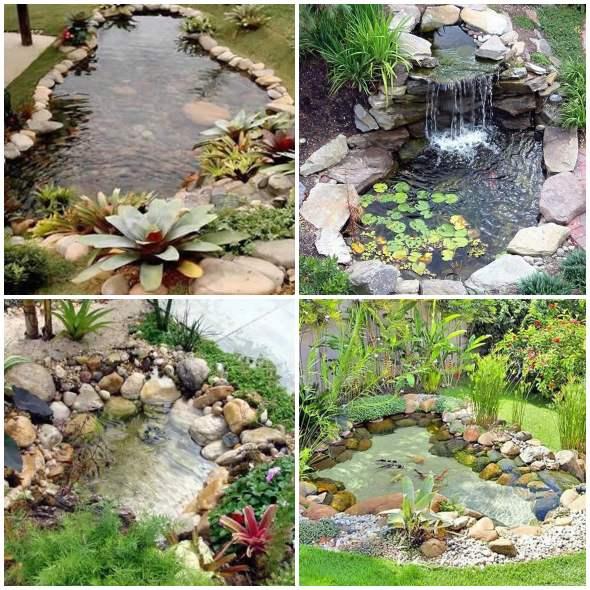 Lagos incríveis para jardim
