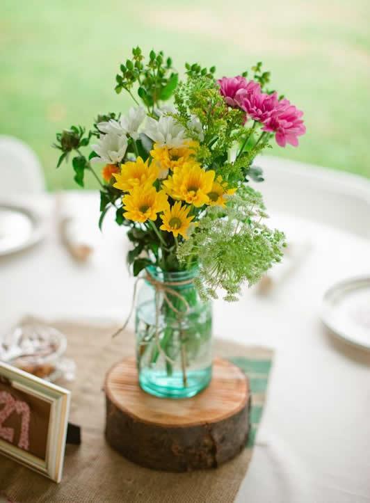 Lindos vasos com flores