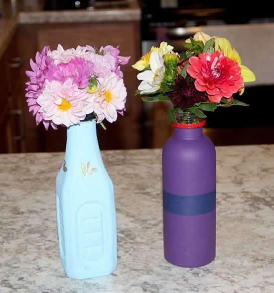 Lindos vasos com reciclagem