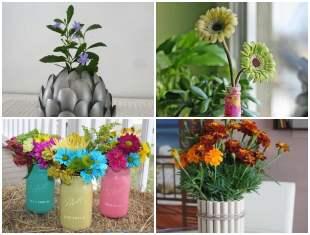 Vasos com Reciclagem para Inspiração