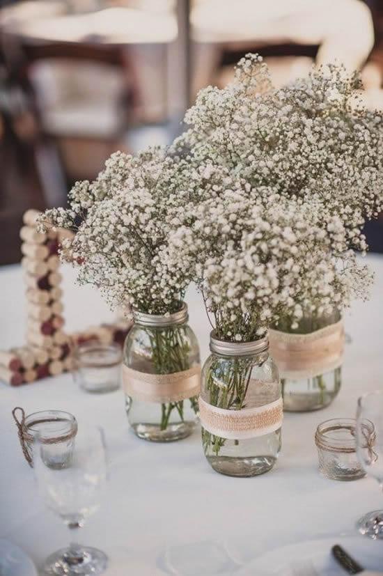 Flores mosquitinho para decoração