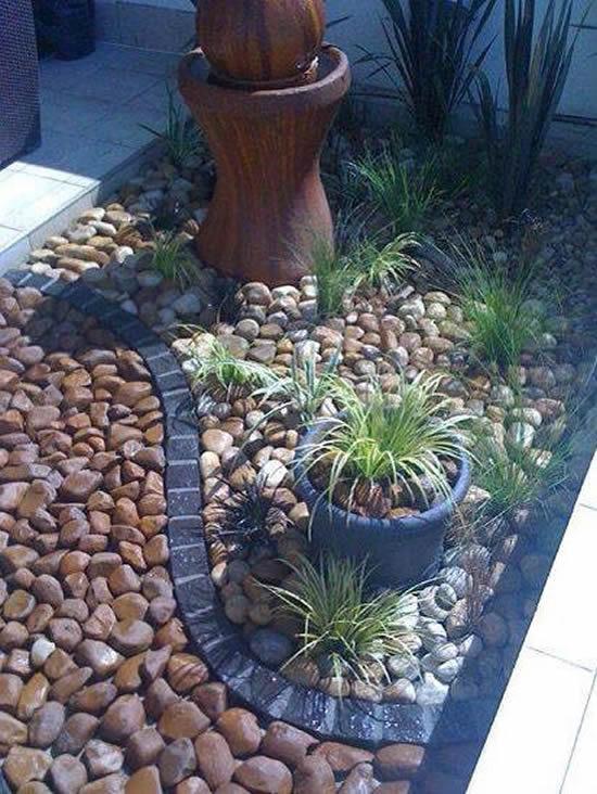 Decore seu jardim com seixos